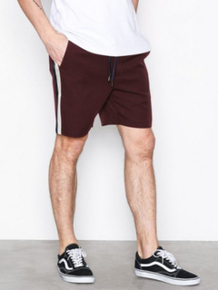 Topman Burgundy Satin Side Stripe Shorts Shorts Burgundy