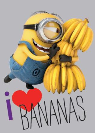 Grusomme Mig Minions gulvtæppe til børn - Love Bananas 133x95 - Only4kids