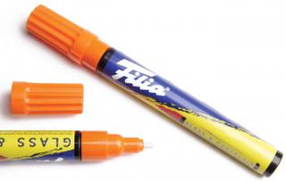 Filia Glass/Porselen Tusj Oransje - 1 stk