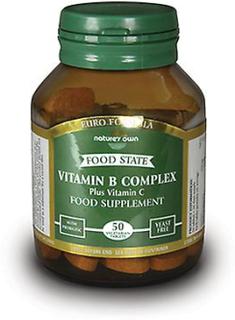 Naturens egen B vitaminer Vitamin B-komplex + Vitamin C (Euro forme...