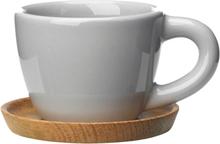 Espressokopp med träfat 10 cl Kiselgrå