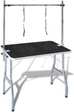 vidaXL vaske-/trimmebord til kæledyr justérbart 2 seler