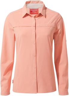 Craghoppers Women's Nosilife Pro Long Sleeve Shirt Dame langermede skjorter Rosa 16