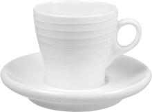 Design House Stockholm - Blond Espressokopp m/skål 10 cl stripe Hvit