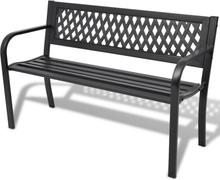 vidaXL Trädgårdsbänk 118 cm stål svart