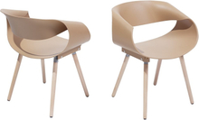 Tuoli ruskea (2 kpl) CHARLOTTE