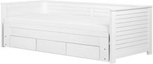 Päivävuode säilytyslaatikolla 90x200 cm valkoinen CAHORS