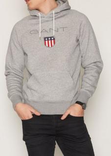 Gant Gant Shield Hoodie Gensere Grey Melange