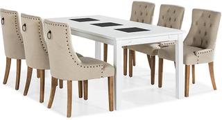 Jasmin Spisebordssaet med 6 stk Viktoria Stole 6 Viktoria Stole