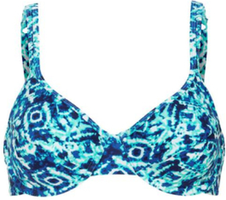 Cellbes Blåmønstret bikini-bh med bøyle Blå Mønstret