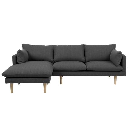 Freja - Grå Chaiselong Sofa (Venstrevendt)