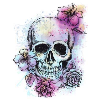 RoomMates Deco Väggdekor Bright Floral Skull