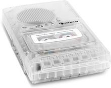 ClearTech Kassettbandspelare Diktafon USB MP3 mobil transparent