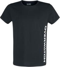 Overwatch - Vertical Logo -T-skjorte - svart