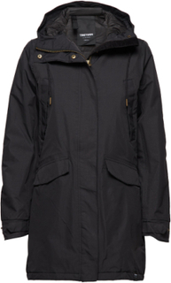 Rain Jkt From The Sea Padded W Parkas Kåpe Svart TRETORN
