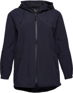 Softshell Outerwear Jackets Light Coats Blå Zizzi