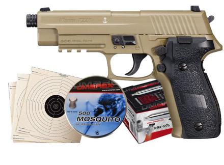 Sig Sauer P226 FDE Luftpistol Pakkesett med alt du trenger!