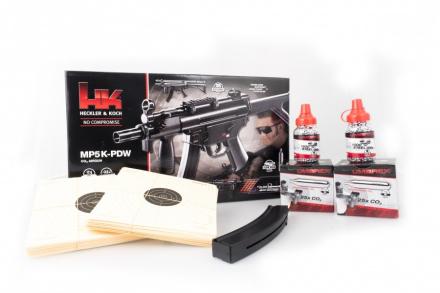 H&K MP5K PDW Co2 Maskin Pistol MegaPakke - 4.5mm BB