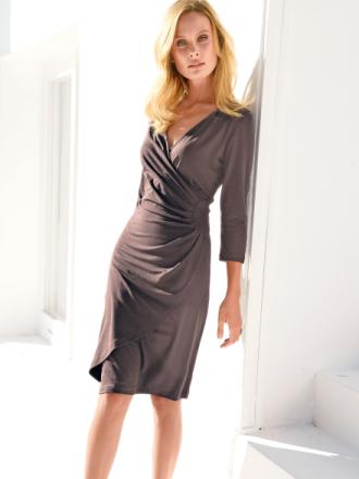 Jerseyklänning 3/4-ärm från Uta Raasch beige