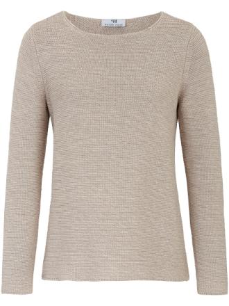Rundhalsad tröja från Peter Hahn beige