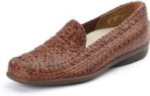 Flätade skor Harriet för kvinnor från Waldläufer brun