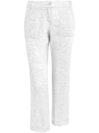 Modern Fit 7/8-byxa i rent linne från Brax Feel Good vit