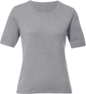 Rundhalsad tröja i 100% kashmir från Peter Hahn Cashmere grå
