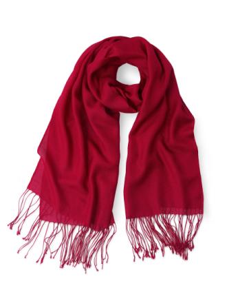 Scarf för kvinnor i ren kashmir från Uta Raasch röd