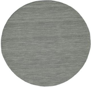 Kelim loom - Mørk grå teppe Ø 150 Moderne, Rund Teppe
