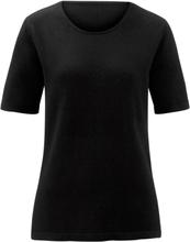 Rundhalsad tröja kort ärm från Peter Hahn svart