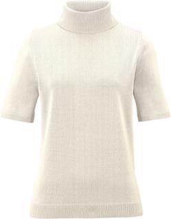 Rundhalsad tröja kort ärm från Peter Hahn vit