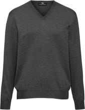 V-ringad tröja modell Marco i 100% ren ny ull från Peter Hahn grå