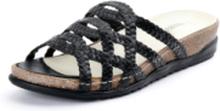Flätade slip in-skor Hiara för kvinnor från Waldläufer svart