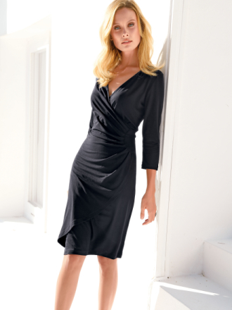 Jerseyklänning 3/4-ärm från Uta Raasch svart