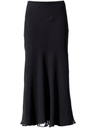 Kjol i äkta silke från Peter Hahn svart