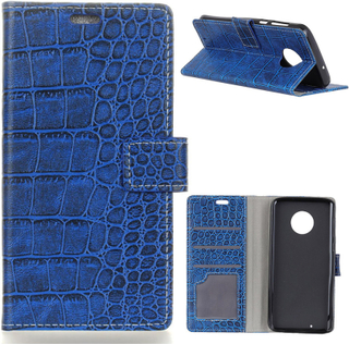 Motorola Moto G6 PU Skinn Deksel Krokodille Tekstur - Blå