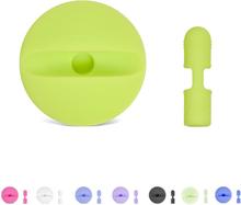 Apple pencil lade stasjon med beskyttelses hette i silikon - Grønn