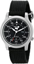 Seiko Men's Five Canvas Strap Automatische Uhr SNK809K2 - Schwarz