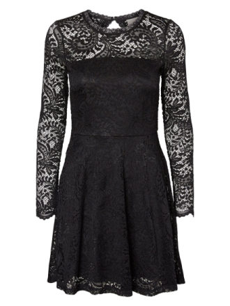 VERO MODA Lace Short Dress Women Black