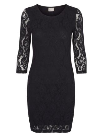 VERO MODA Lace 3/4 Sleeved Short Dress Women Black