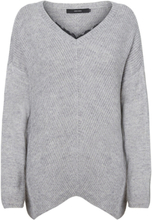 VERO MODA Lace Knitted Pullover Women Grey