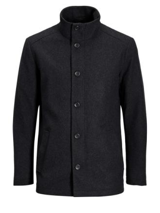 JACK & JONES Wool Coat Men Grey