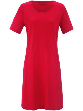 Kortärmad jerseyklänning från Green Cotton röd