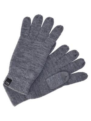 d3226bb45 JACK & JONES Classic Gloves Men Grey - Men's knitted gloves, Fleece inside  for high comfort - Men's knitted gloves. Fleece inside for high ...
