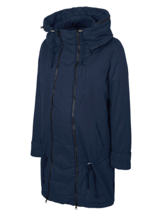 MAMA.LICIOUS 2-in-1 Padded Winter Maternity Jacket Women Blue