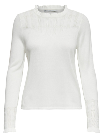 ONLY Detailed Knitted Pullover Women White