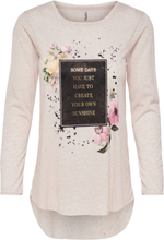ONLY Printed Long Sleeved Top Women Beige; White