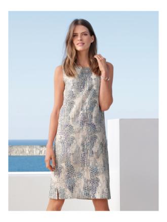 Ärmlös klänning i rent linne från Peter Hahn mångfärgad