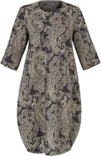 Klänning i rent linne från Emilia Lay grå