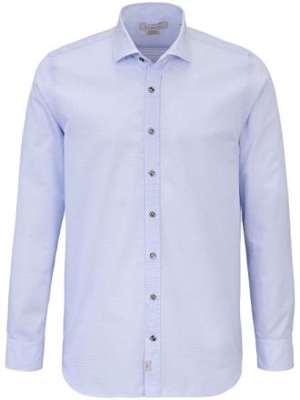 Skjorta button down-krage från Bugatti blå